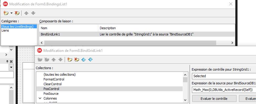 Livebindings, accès aux bases de données